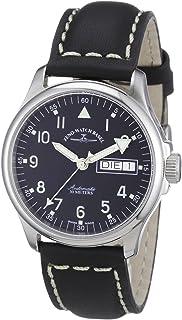 Zeno 手表巴塞尔男式自动手表基本款 12836DDN-a1 带皮革表带
