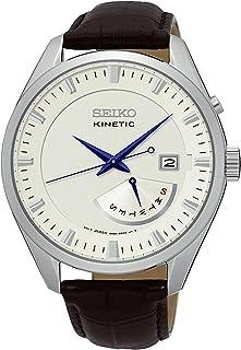 Seiko 精工 男士皮革表带模拟石英手表– SRN071P1,米色