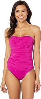 LAUREN RALPH LAUREN 女式海滩俱乐部纯色扭带钢圈连体衣  Plumeria 14