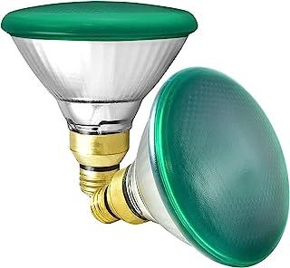 GE 通用电气 85 瓦卤素灯 PAR38 户外泛光灯泡,*灯泡,玻璃,120V,潮湿等级,E26 中号底座(2 件装)