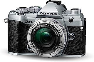 Olympus 奥林巴斯 OM-D E-M5 Mark III Micro Four Thirds 系统相机套件(20 MP 传感器,5 轴图像稳定,强大的自动对焦,电子取景器,4K视频,Wi-Fi),银色+14-42毫米M.*ko镜头