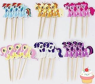 24 件 My Little Pony 纸杯蛋糕饰品拨片 - 蛋糕装饰