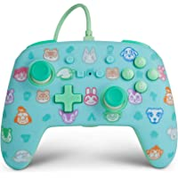 PowerA 增强型有线控制器 适用于 Nintendo Switch – 动物交叉、游戏手柄、有线视频游戏控制器、游戏…