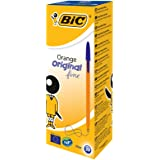 Bic 橙色圆珠笔 0.8mm 尖头 0.2mm 线型黑色参考线 1199110114 [20 件装]_父级 Box x…