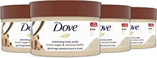 Dove 多芬 去角质霜,柔滑肌肤,黑糖和椰子黄油,身体去角质霜,恢复皮肤的天然营养,10.5盎司,298克,4盒
