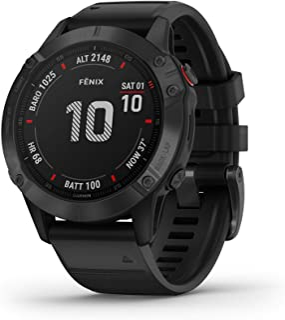 Garmin 佳明 fenix 6 Pro 高级多运动GPS手表,具有制图,音乐,坡度调整的步速引导和脉冲氧传感器,黑色