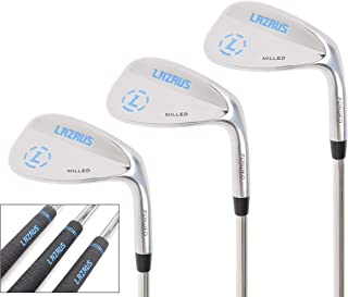 LAZRUS 高级锻造高尔夫球楔套装 - 52 56 60 度高尔夫球楔 + 研磨面带来更多旋转感 - *的高尔夫礼物