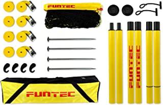 Funtec 套装排球海滩大师,黄色,8.5 米