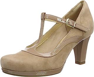Clarks 女式 CHORUS Pitch t-bar 高跟鞋