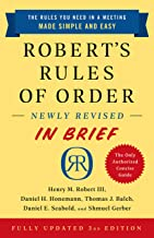 Robert's Rules of Order Newly Revised In Brief, 3rd edition (English Edition)