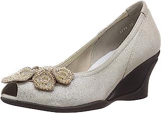 CONTIMEINE 花朵图案舒适露趾浅口鞋 2778 女士