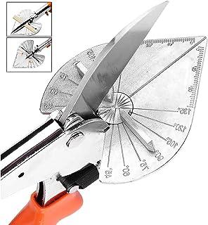 多角度斜切刀   手动剪切多功能工具   45 至 135 度斜切剪刀   不锈钢带橡胶手柄和*锁