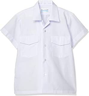 [蜻蜓学生服] 小学 开领衬衫短袖 带防雨盖 T-12-24 男童