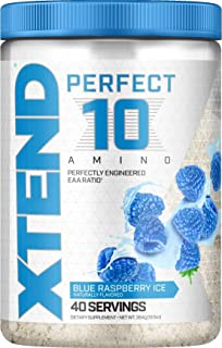 XTEND Perfect 10 Amino EAA Powder Blue Raspberry | 5g Essential Amino Acids + Branched Chain Amino Acids + Electrolytes to...