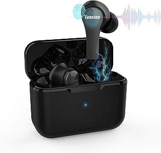 ANC 无线耳塞 – 35 分贝,Game True 无线耳塞 50 毫秒蓝牙 5.1 降噪带麦克风,Tonstep TWS 蓝牙耳机,HIFI 立体声低音,触摸控制 35 小时,带充电盒,耳机