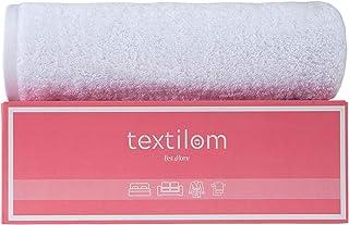Textilom * 土耳其棉超大豪华浴巾,超大和超大浴巾床单,适用于浴室和淋浴,*大程度柔软度和吸水性 ( 40 x 80 英寸 ) - 白色