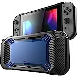 Mumba 任天堂 Switch 手机壳,[重型] 超薄橡胶 [扣紧式] 硬质保护套适用于 Nintendo Switc…