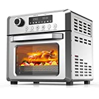 KBS 烤面包机烤箱空气炸锅组合,8 合 1 空气炸锅,带烤盘,脱水器,烤架,19 夸脱/6 片无油台面烤箱,带数字控制…