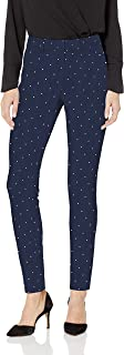 亚马逊必备女式图案 bi-stretch 长裤