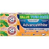 Arm&Hammer Advance 亮白防污渍牙膏,新鲜薄荷,6盎司(约170.10克),双包装(包装可能有所不同)