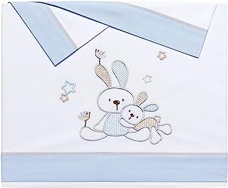 Bunny 婴儿床垫套 棉质 蓝色 Maxicuna (70 x 140 cm)