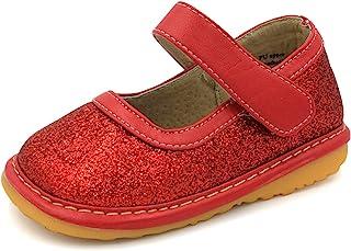 Squeaky 鞋子 - 闪亮玛丽珍学步女童鞋 可卸式小丑