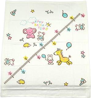 里层纱布 正方形浴巾 带身高计约 90cm×90cm ST14 日本制造 奶油色