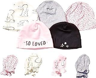 GERBER 女婴 9 件套帽子和连指套装,兔子爱,新生儿