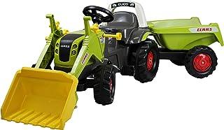 Rolly Toys 02 515 2 rollyKid Claas 025152 拖拉机 RollyKipper II 脚踏车,带前装铲和倾斜拖车 适合 2.5-5 岁儿童