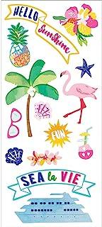 "Paradise Found Puffy Stickers 3""X6.5""-Hello Sunshine"