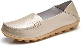 venuscelia 女式天然舒适漫步平底乐福鞋