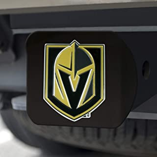 FANMATS NHL - 拉斯维加斯金骑士队黑色金属挂接装置盖 - 3D 彩色徽章