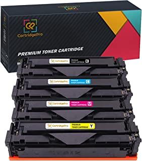 4 件装 CartridgePro 替换装适用于 HP 201X CF400X CF401X CF402X CF403X 墨盒颜色套装适用于 Laserjet Pro M252dw M252n M277n M277dw