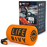 Life Bivy 急救睡袋 保暖 Bivvy - 用作应急 Bivy Sack、生存睡袋、薄膜急救包、生存用具 - 包…
