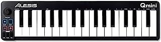 Alesis Qmini - 便携式 32 键 USB MIDI 键盘控制器,带速度敏感的合成动作键和音乐制作软件