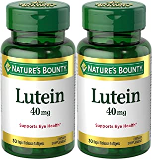 Nature's Bounty Lutein Softgels, 30 count (Pack of 2)