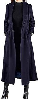 女式过膝长款外套加厚双排纽扣羊毛大衣