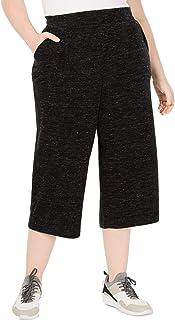 Ideology 女式加大码阔腿裤,深黑杂色 4X
