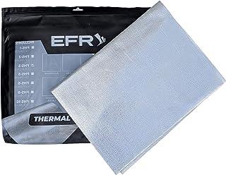 铝制隔热保护带玻璃纤维和自粘背衬隔热板 8 Sq Feet 银色 FGHS