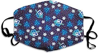 面巾防尘口罩定制光明节Dreidel 可水洗和可重复使用的布料保暖防风,适合女士、男士、女孩、儿童