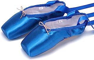 WENDYWU 芭蕾舞鞋 彩色 蓝色 红色 白色 黑色 粉色 尖头鞋 带脚垫