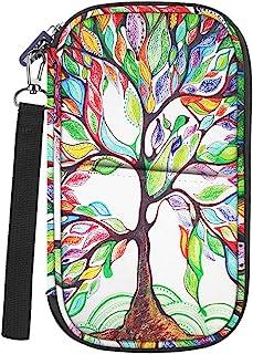家庭旅行钱包护照夹,Fintie RFID 屏蔽文件收纳包带手提带 Z-Love Tree 9.05 x 5.31 x 1.02 inches
