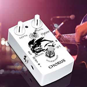 Chorus Guitar Pedal,Mini Electric Guitar Effects Pedal With True Bypass Footswitch,Single Type DC 9V Classic Analog Chorus Pedal Board,Clear Sound Effects Bass Modulation Pedal,Chorus Tremolo Effect