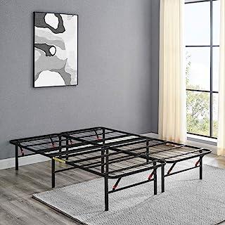 Amazon Basics 14 英寸(约 35.6 厘米)可折叠金属床架,免工具组装,无需弹簧 - 全尺寸