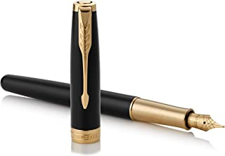 PARKER 派克 钢笔 F 细字 Sonnet 虫漆黑GT 1950550 两用式 约146mmx9mm