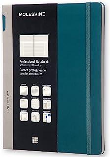"""Moleskine PRO 笔记本,硬封皮,XL,7.5"""" x 9.5""""(约19.05厘米 x 24.13厘米),专业项目计划,潮绿色,192页"""