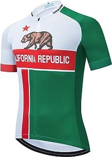 OROLLING 夏季美国加利福尼亚自行车运动衫男士山地自行车服装快干赛车