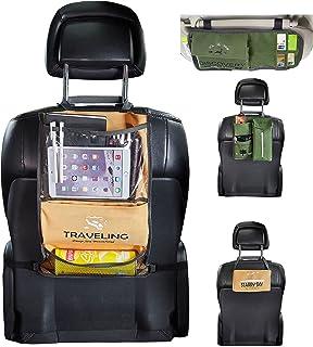 汽车座椅背部收纳袋 - 汽车内饰配件 - 遮阳板收纳袋,纸巾架,座椅储物挂袋 - 4 件套