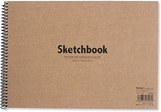 21.12 厘米 × 29.71 厘米双面精装素描本,40 张,精装素描本,螺旋素描簿,耐用绘图纸,适合儿童和成人,日本制造,高品质