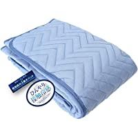 昭和西川 床垫 蓝色 100×205cm 接触凉爽垫 蓝色 100×205cm Amazonオリジナル2018年企画